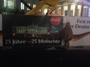 Picture of me celebrating 25 years of German Unity with another American friend, Coca-Cola